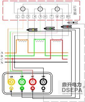 图--三相四线接线示意图&