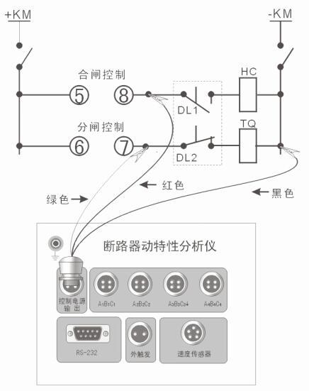 高压开关动特性测试仪接线方法