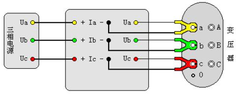 变压器容量及损耗参数测试仪单相变压器短路损耗接线