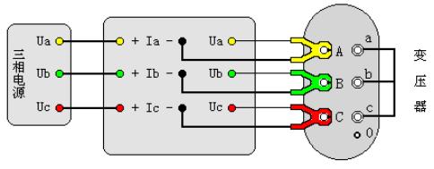 变压器容量及损耗参数测试仪三相三线电源测量变压器短路损耗接线